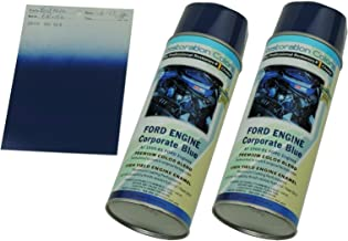 Compatible With 1966-1981 Corporate FORD BLUE High Temp Engine Enamel Spray Paint 2 Can (C-1-5)
