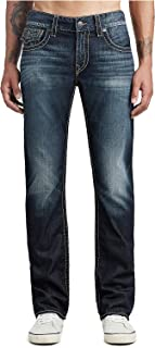 True Religion Men's Ricky Big T Straight Leg Jean with Back Flap Pocket