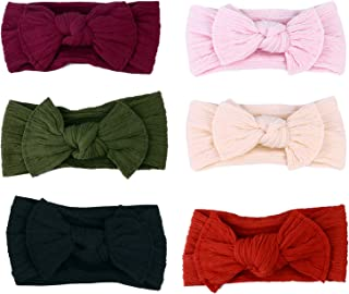 Beaupretty 6pcs Baby Nylon Headbands Bows Elastics Bowknot Headband for Baby Girls Newborn Infant Toddlers Kids Christmas ...