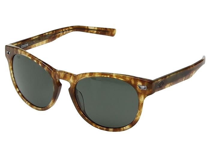 Costa  Del Mar (Shiny Kelp Frame/Gray 580G) Athletic Performance Sport Sunglasses