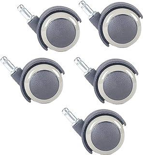 Swivel Casters Kantoorstoel Caster, Plastic Wielen Wielen 10mm Vervanging Swivel Wheels, Bescherm uw tapijt/hardhout, Grij...