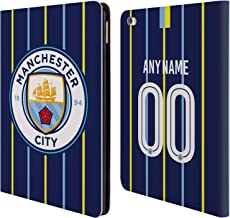 Custom Customized Personalized Manchester City Man City FC Away Kit 2018/19 Leather Book Wallet Case Cover Compatible for iPad Air 2 (2014)