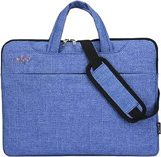 Notebook Bag Laptop Bag Custom Logo Liner Bag Apple Millet Dell Shoulder Bag 15.6 Inches Laptop Shoulder Bag Cover Case(Light blue)- FahionswanAE