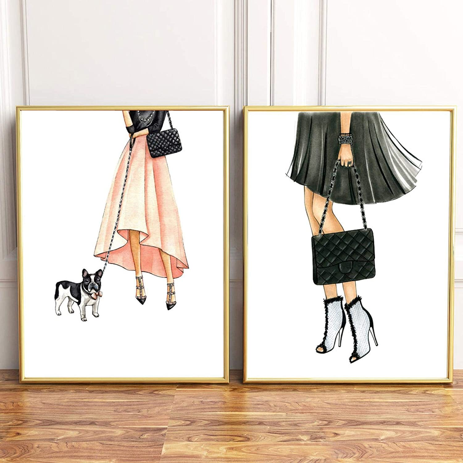 Classic Canvas Painting Art Discount mail order Minimalism Girls No Dog Cute Fashion Product