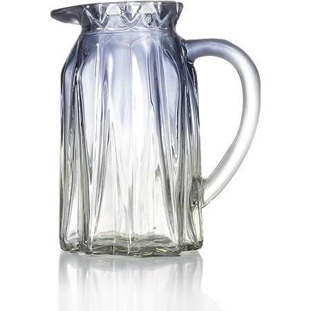 Ekirlin Jarrón de Cristal con Forma de Flor, jarrón Azul para Mesa, Planta de Cristal, jarrones para Bodas, Eventos, decoración, arreglos de Oficina, Escritorio o hogar, estantería