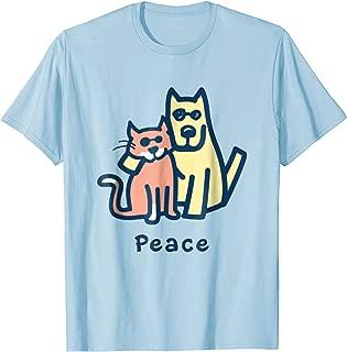 Cat Mom Dog Mom Peace Together I Love Pets Tshirt