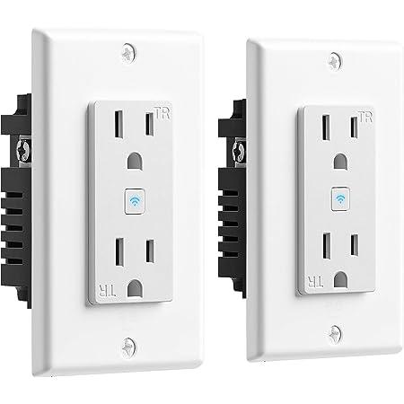 Geeni Enchufe de pared inteligente Wi-Fi con 2 enchufes (enchufe inteligente Wi-Fi, 2 unidades)