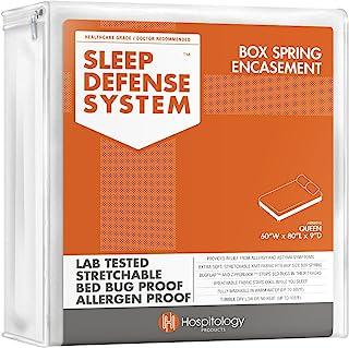 محصولات HOSPITOLOGY سیستم دفاع خواب - محفظه فنر جعبه زیپ دار - ملکه - اشکال تختخواب