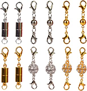 Bleiou 12 Pcs Magnetic Lobster Clasps Closures Kit for Jewelry Necklace Bracelet