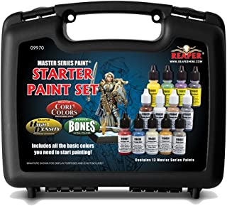 Reaper Miniatures 09970 Starter Paint Set, Master Series Paint Box Set