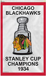 Rico Industries Chicago Blackhawks Vertical 3 X 5 1934 Stanley Cup