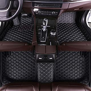 MyGone for Volkswagen VW Beetle Hatchback 2008-2012 Custom Car Floor Mats All Weather Protection Front Contour Liners and 2 Row Liner Set Waterproof Non-Slip Black with Beige