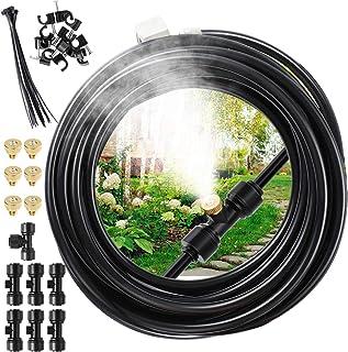 EXTSUD Kit Nebulizador Jardín, Sistema de Enfriamiento por Nebulización, Kit Nebulizadores para Terrazas con 7 Boquill (6M)