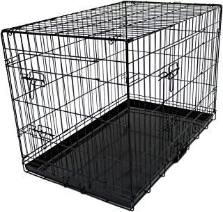Despacito Metal Foldable Rabbit Cage,Double Door Pet House for Rabbit,Dogs and Cats(17 * 24 * 20 inch(L*B*H),Random Color)
