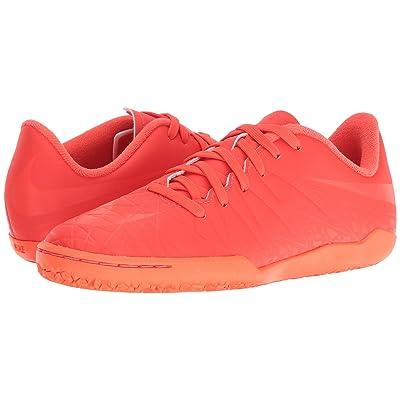 Nike Kids Jr Hypervenom Phelon II IC Soccer (Toddler/Little Kid/Big Kid) (Bright Crimson/Hyper Orange/Total Crimson) Kids Shoes