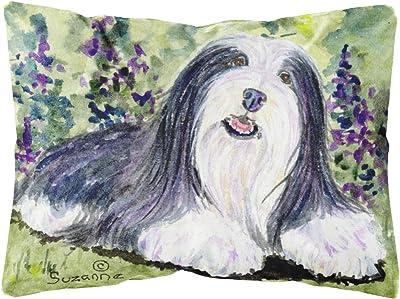 Caroline S Treasures Ss8816pw1216 Bearded Collie Decorative Canvas Fabric Pillow 12h X16w Multicolor Garden Outdoor