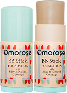 Omorose Cosmetics BB Cream Foundation Stick Buildable Light Medium Base Makeup Foundation to Full Coverage Foundation for Oily & All Skin Women Men, BB Cream Formula Skin Tint Foundation Makeup, Fair & Medium
