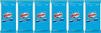 6-Pack Windex 28 ct Original Glass Wipes
