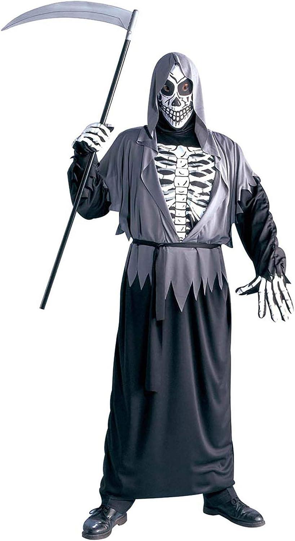 Mens Grim Reaper Costume Large UK 2.4cm for Halloween Fancy Dress