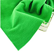 Green Micro Fleece Anti Pill Fabric by The Metre for Material Sewing Blankets Throws Clothing W150CM 2 Metres