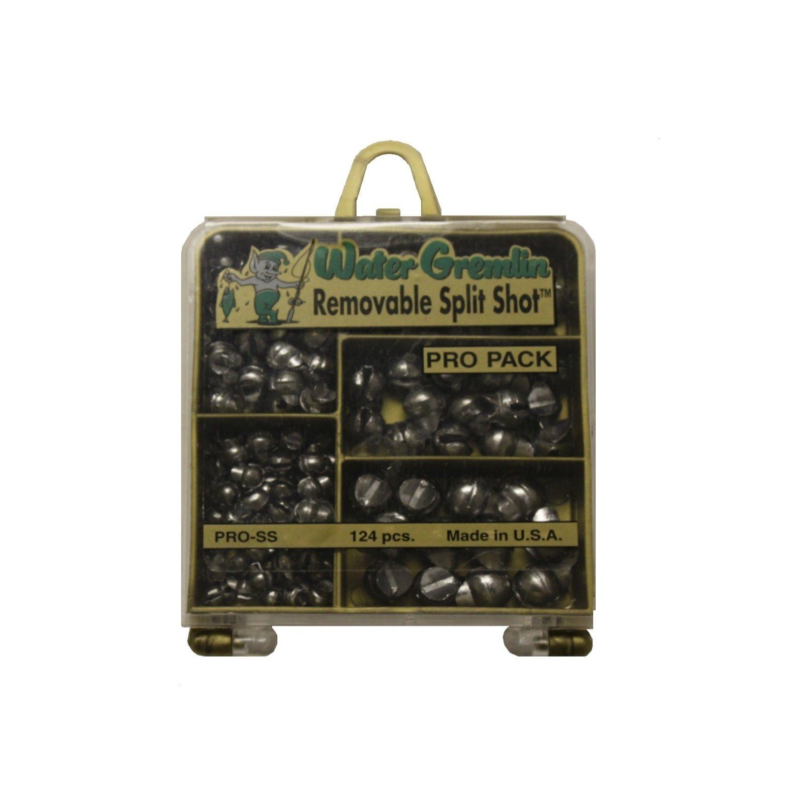 Water Gremlin Removable Split Shot Pro Pack, 48ea/BB, 36ea/3/0, 16ea/7, 12ea/5, 12ea/4, Multi