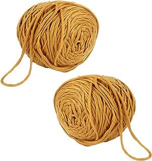 GARNECK 2pcs Knitting Cotton Yarn Crochet Wool Knitting Yarn for Knitting Crochet and Amigurumi (Yellow)