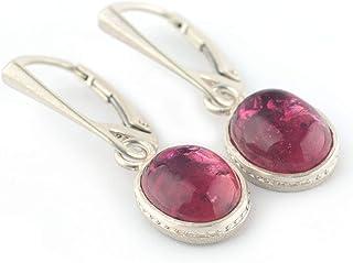Orecchini Tormalina Rosa e Argento 925