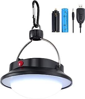 Justech 60 LED Luz de Camping Lámpara de Colgante Portátil Luces de Interior al Aire Libre Lumen LED Súper Brillante para Camping Decoración Exterior Interior Lectura Jardín y Mesa de Comedor etc