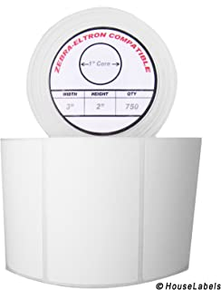 """50 Rolls; 750 3"""" x 2"""" Direct Thermal Labels per Roll Compatible with Zebra/Eltron- 3 x 2 Labels (3"""" x 2"""") - BPA Free!"""