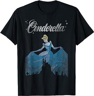 Disney Cinderella Vintage Castle Silhouette T-Shirt