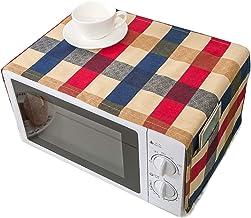 TTFGG 2 Piezas Celosía Imprimir Microondas,Cubierta Horno Tostadora con Bolsillos Almacenamiento,Protección contra Polvo Y Huellas Dactilares,Lavable A Máquina