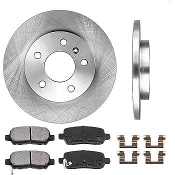 Front Brake Kit Pair of 2 Rotors and Set of 4 Metallic Pads BK3355m