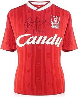 John Barnes Signed 1988-89 Liverpool Home Jersey | Autographed Memorabilia