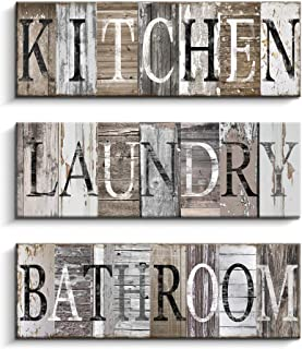 Laundry Sign, Kitchen Sign, Bathroom Sign Wall Art Decor, Family Decorative Signs..