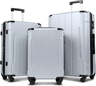 Merax Luggage Sets with TSA Locks, 3 Piece Lightweight Expandable Luggage with Reinforced Corner 20inch 24inch 28inch