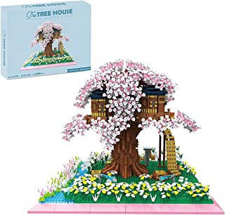 Sakura Tree House Compatible with 5280Pcs Cherry Tree House DIY Building Block Toy