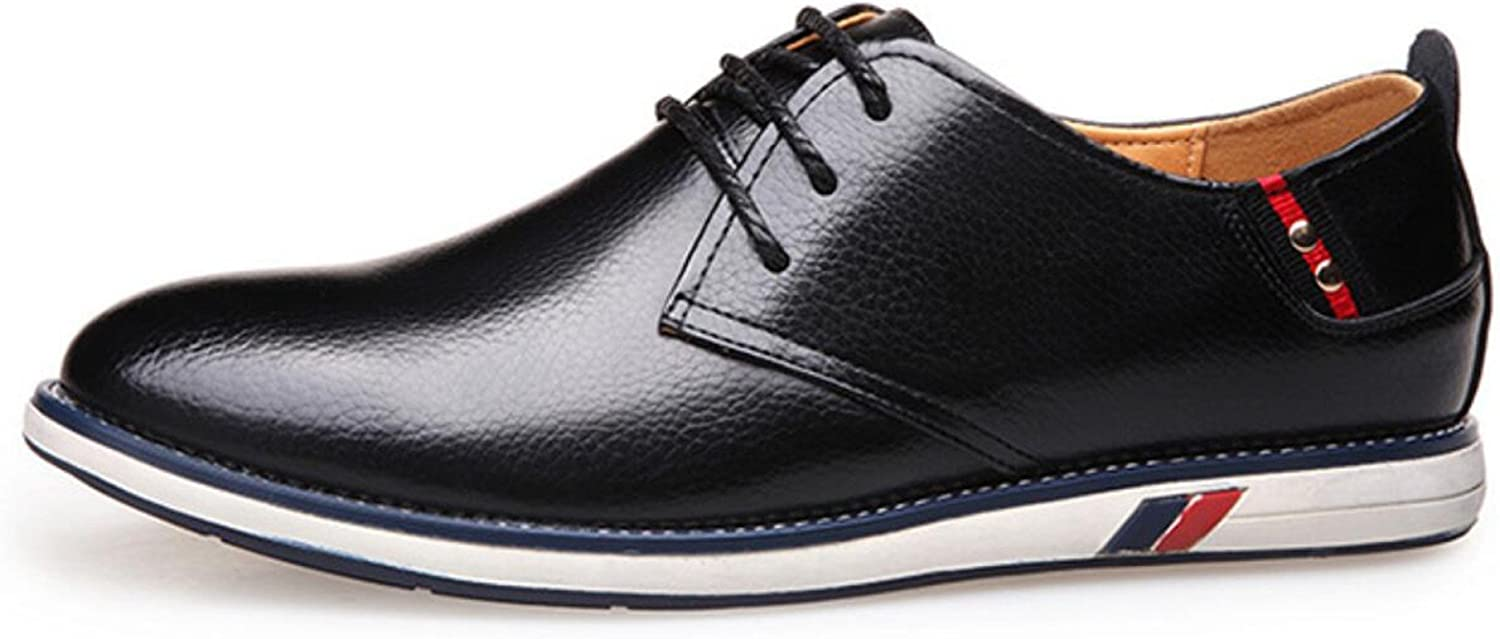 CHENSH Leather shoes British Men's Round Lace Business Casual Trend Of Outdoor Wedding shoes Work