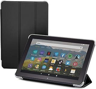 NuPro Custodia pieghevole con supporto integrato per tablet Fire HD 8 (10ª generazione, modello 2020), colore: nero