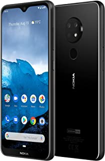 Nokia 6.2 Android One Smartphone (Official Australian Version) 2019 4G Unlocked Mobile Phone with Dual Sim, Triple Camera, Pure Display, 2-Day Battery, 64GB, Ceramic Black