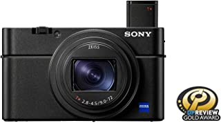 Sony RX100 VII Premium Compact Camera With 1.0-type Stacked CMOS Sensor, 20.1MP, Black, DSC-RX100M7