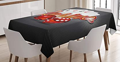 Poker Tournament Decorations Tablecloth Linen Decor Table Cover for Kitchen Dinning Room Rectangle Oblong Tablecloths 54 W...