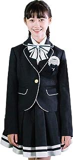 卒業式 小学生 女の子 スーツ 5点セット ゆったりサイズ 子供服 小学校 女の子スーツ 女児 ジュニア 卒業 セレモニー 服装 フォーマル 卒服 受験 子供スーツ [リトルリード] LITTLE LEAD 363756314 A体(標準) 150cm