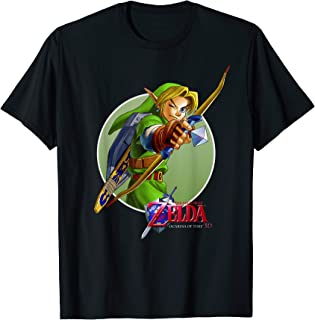 Nintendo Zelda Ocarina of Time 3D Link Aims Graphic T-Shirt