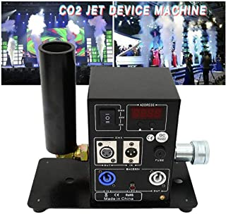CO2 Machine, TBVECHI Single Nozzle Cannon CO2 Jet Device Machine Air Column Smoke DMX512 Control for Party Show Concert Night Club