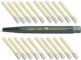 Faber Castell pisak obrotowy z gumką do ścierania szkła (pędzel z włókna szklanego), zestaw do uzupełniania o 20 wkładów.