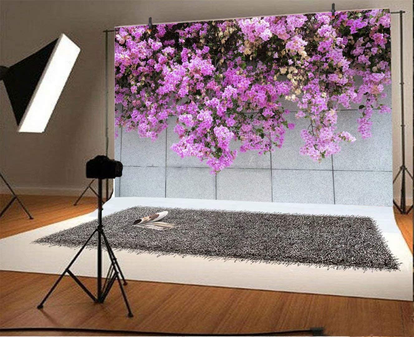 DaShan 6x4ft Polyester Floral Wall Backdrop Wedding Bridal Shower Women Girls Flower Birthday Photography Background Marble Wall Newborn Baby Decor Valentines Day Mother Girl Flower Wall Photo Props