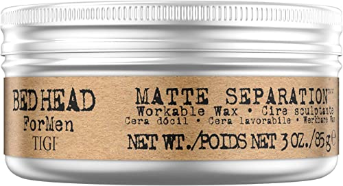 BED HEAD for Men Workable Separation Hair Styling Wax for Firm Hold and Matte Finish