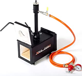 GAS PROPANE FORGE - DFPROF1+2D | with 1 DFP (80,000 BTU) Burner and 2 Doors | Knifemaker Farrier Blacksmith | Efficient an...