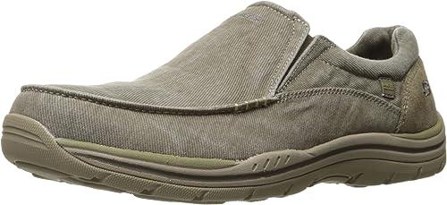 Skechers USA Hommes's Expected Avillo Slip-on Loafer, Khaki, 10.5 2W US