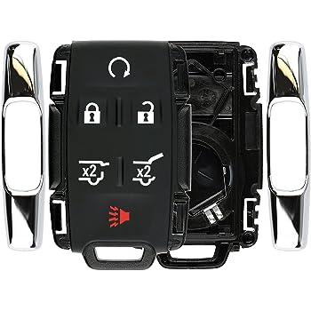 HYQ1AA ;by AUTO KEY MAX For 2015-2019 CHEVY SUBURBAN TAHOE 2015-2020 Yukon XL Keyless Prox Hatch Remote Key Fob 6 BUTTON 315MHZ FCCID PAIR